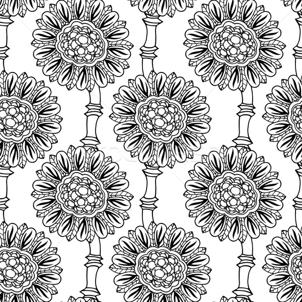 Stock photo: floral doodle vector illustration