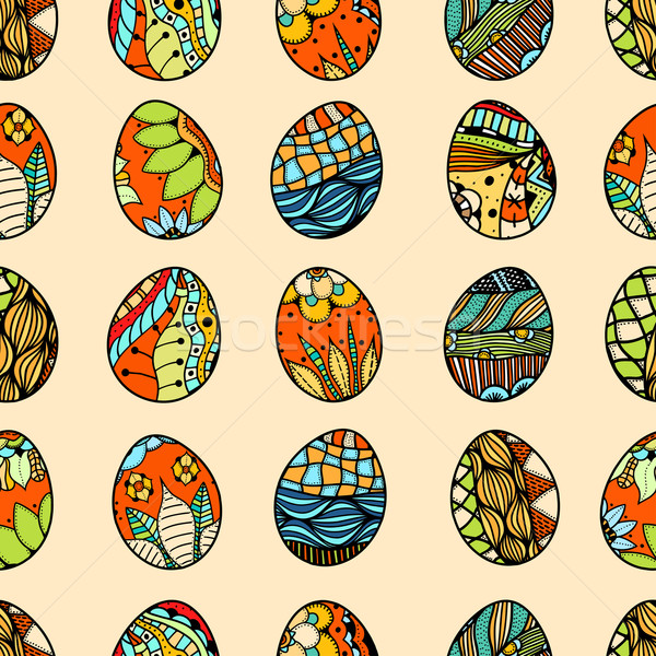 pattern with Easter eggs Stock photo © frescomovie