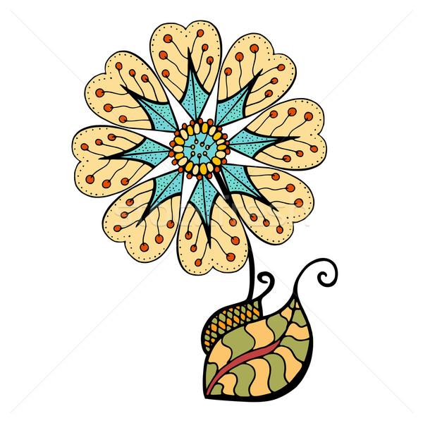 Doodle Blume abstrakten Garten Stock foto © frescomovie