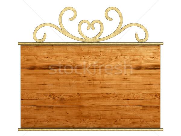 Old signboard. Stock photo © frescomovie