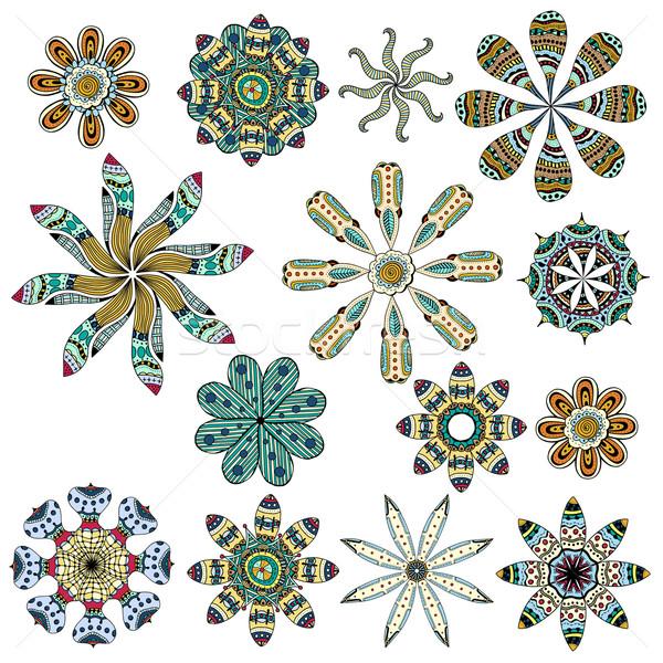 Set of color ethnic patterns Stock photo © frescomovie
