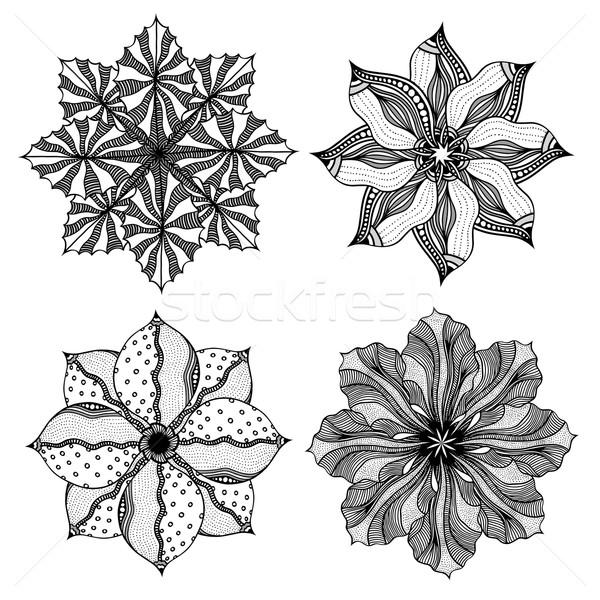 Geometric circular ornament set. Stock photo © frescomovie