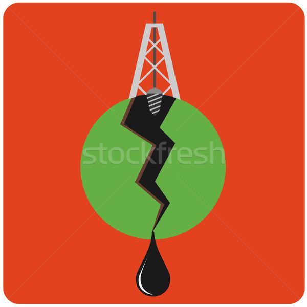 Stock photo: Oil mining