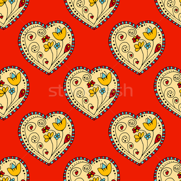 Seamless Pattern Hearts Stock photo © frescomovie