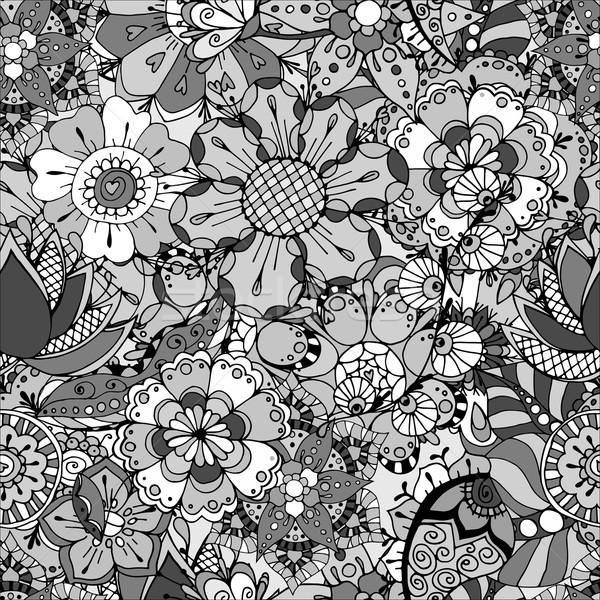 Floral folhas ornamento abstrato Foto stock © frescomovie