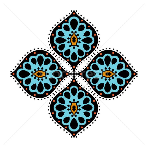 Abstrato elemento isolado branco negócio flor Foto stock © frescomovie
