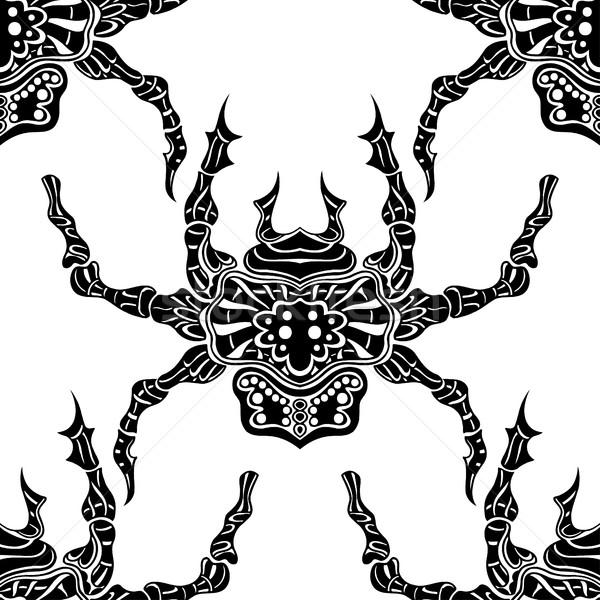 Spider шаблон изображение аннотация Сток-фото © frescomovie
