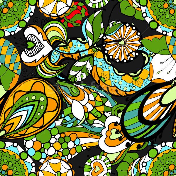 Floral patrón sin costura resumen flor textura Foto stock © frescomovie