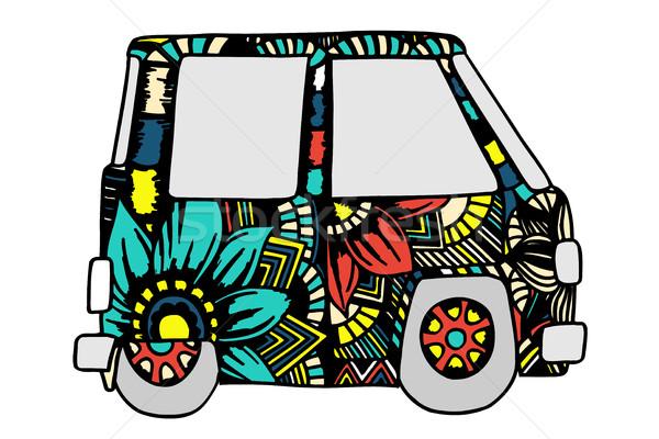 Autó mini furgon vicces felnőtt stressz Stock fotó © frescomovie
