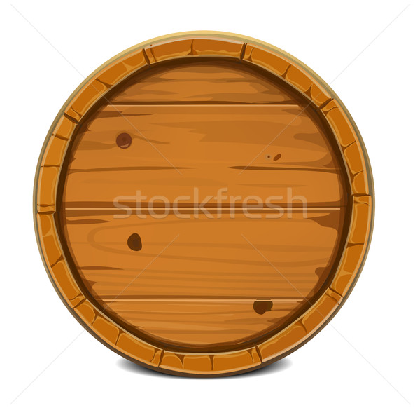 Round wooden barrel. Stock photo © frescomovie
