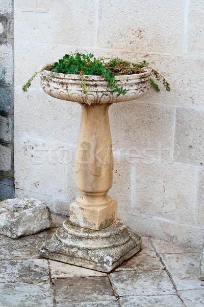 Kő váza fal kőfal öreg város Stock fotó © frescomovie