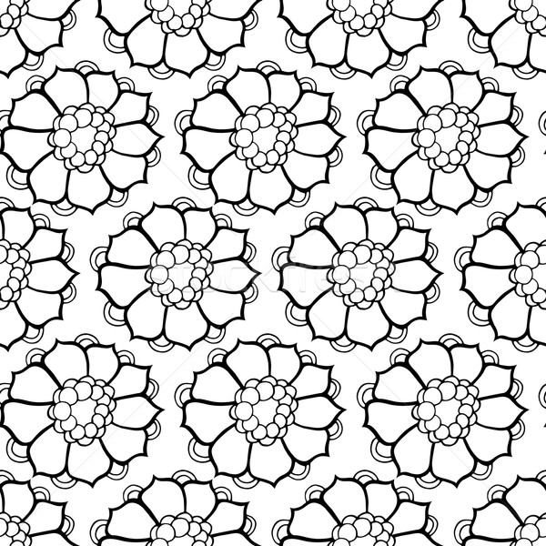 Stock photo: pattern with abstract flowers