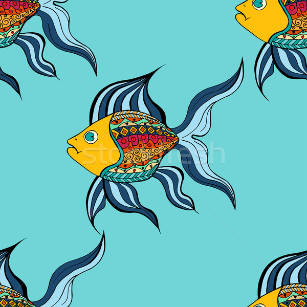 Zentangle fish background Stock photo © frescomovie