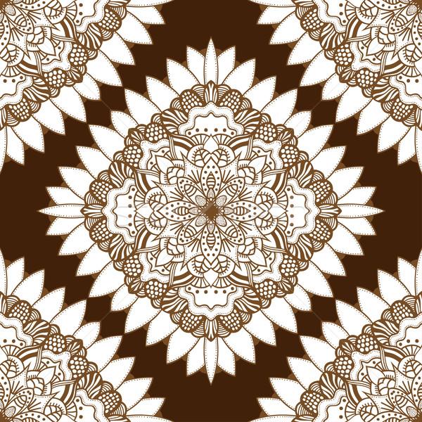 Kahverengi doğu vektör yalıtılmış Stok fotoğraf © frescomovie