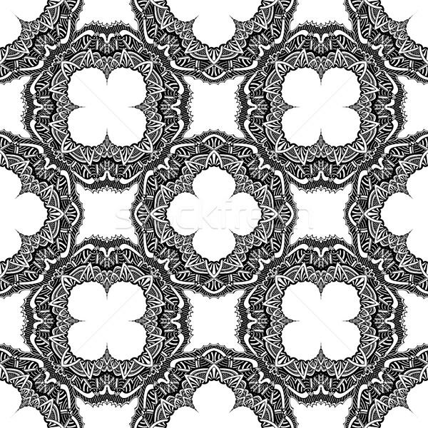 вектора бесшовный декоративный тонкий черный Сток-фото © frescomovie