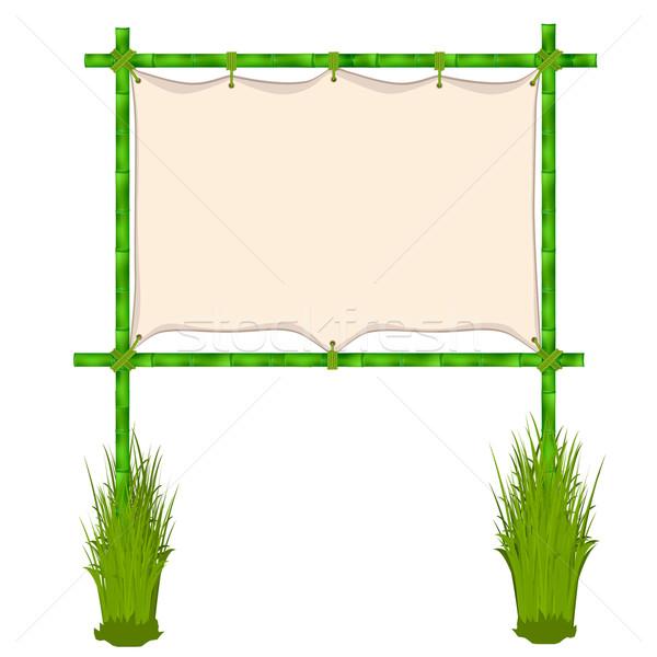 Bambu çerçeve yalıtılmış beyaz ahşap doğa Stok fotoğraf © frescomovie