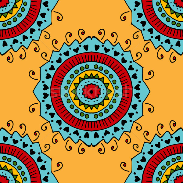 seamless yellow pattern. Stock photo © frescomovie