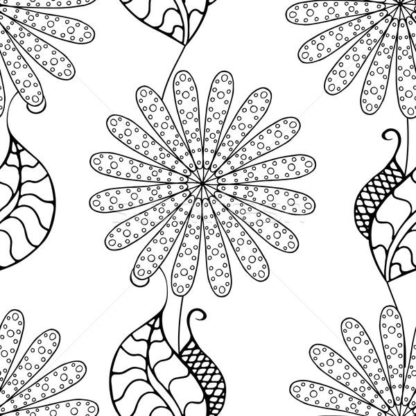 Monochrome Floral Pattern. Stock photo © frescomovie