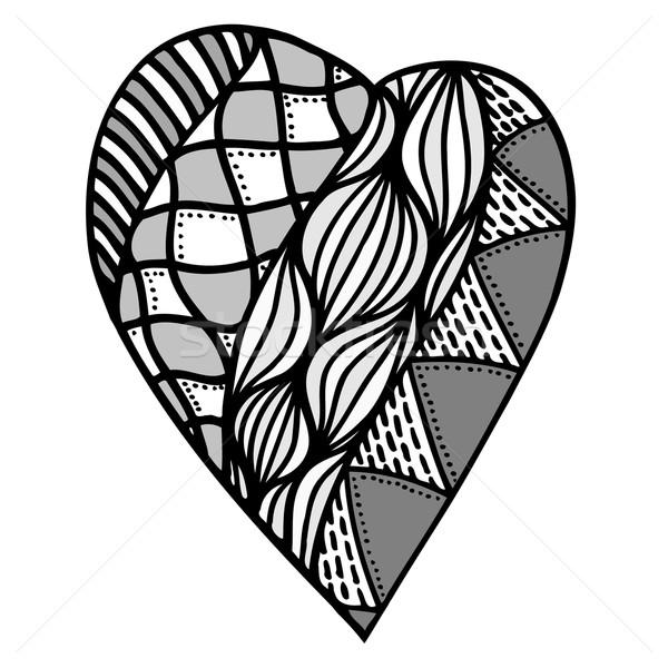 Stockfoto: Hart · stijl · harten · patroon · kleurboek