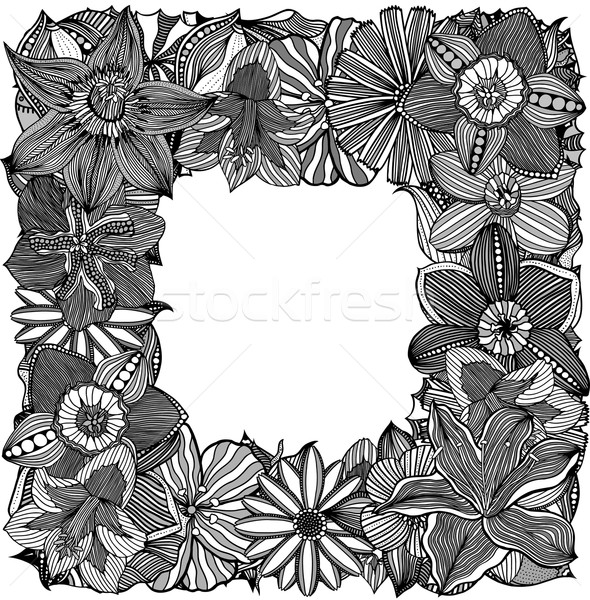 floral zentangle vector illustration Stock photo © frescomovie