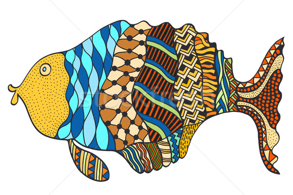 Hand Drawn Fish. Stock photo © frescomovie