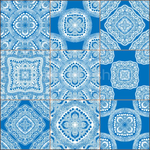 Geometrik fayans ayarlamak olarak Stok fotoğraf © frescomovie
