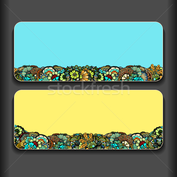 Set of creative gentle cards. Stock photo © frescomovie