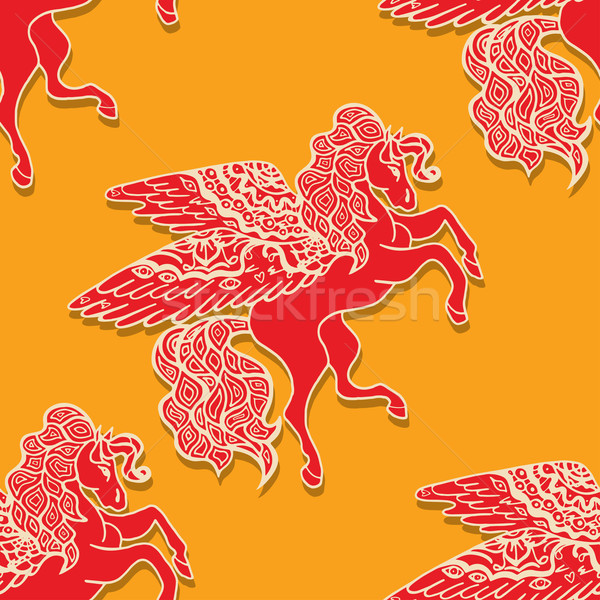 pattern with horses Stock photo © frescomovie