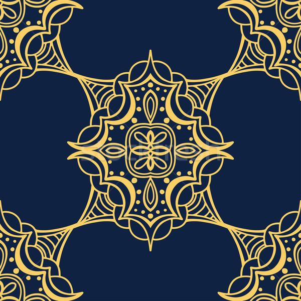 yellow and blue pattern Stock photo © frescomovie