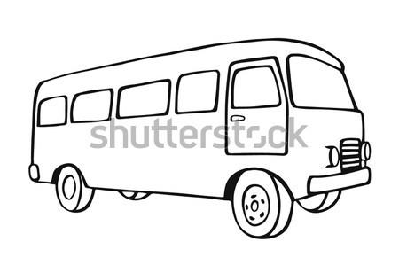 retro travel van Stock photo © frescomovie
