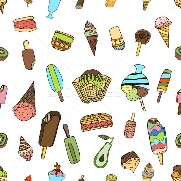 Seamless ice cream Stock photo © frescomovie