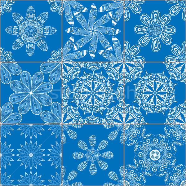 Mértani csempék végtelenített minták szett mega káprázatos Stock fotó © frescomovie