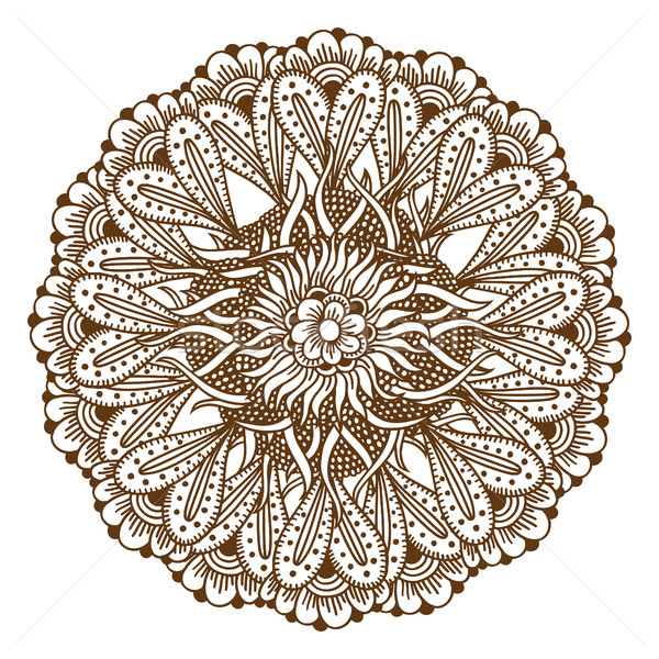 Mehndi Henna Tattoo Mandala Stock photo © frescomovie