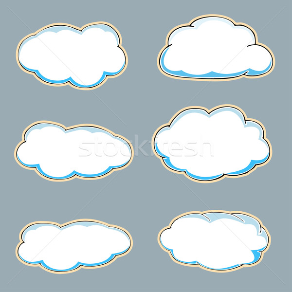 Stock photo: Cartoon clouds.
