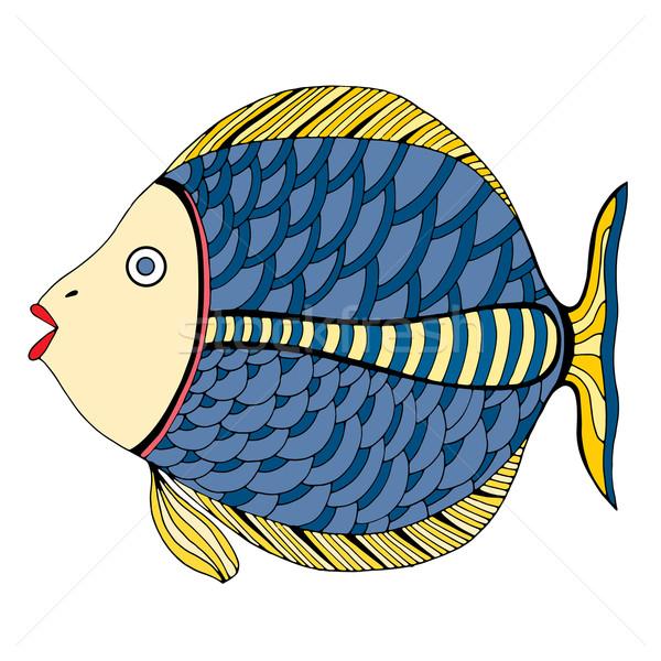 Zentangle stylized Fish. Stock photo © frescomovie