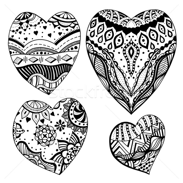 zentangle style hearts Stock photo © frescomovie