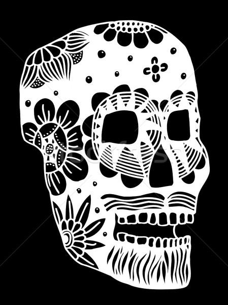 Hand drawn Skull Stock photo © frescomovie