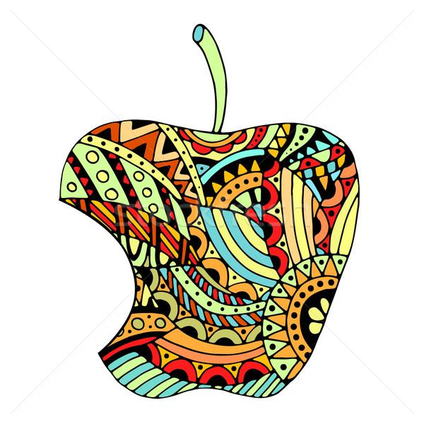 Bitten apple on white background Stock photo © frescomovie
