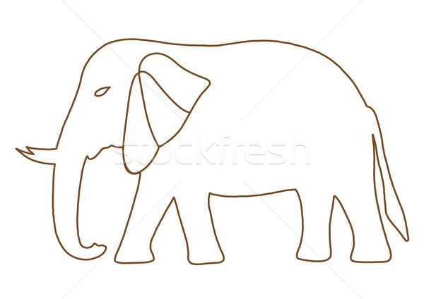 Thai elephant freehand Stock photo © frescomovie