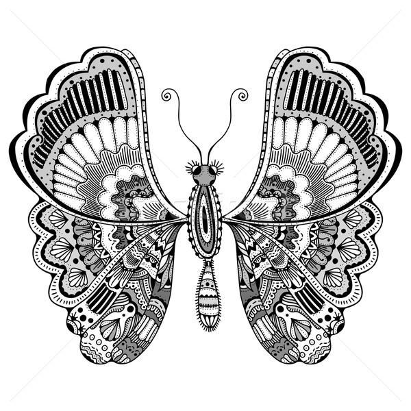 商业照片: 程式化 · 蝴蝶 · 黑白 · 手工绘制 · 涂鸦 · 动物