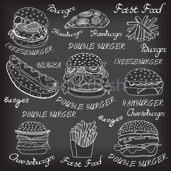 sketchy fast food illustrations. Stock photo © frescomovie