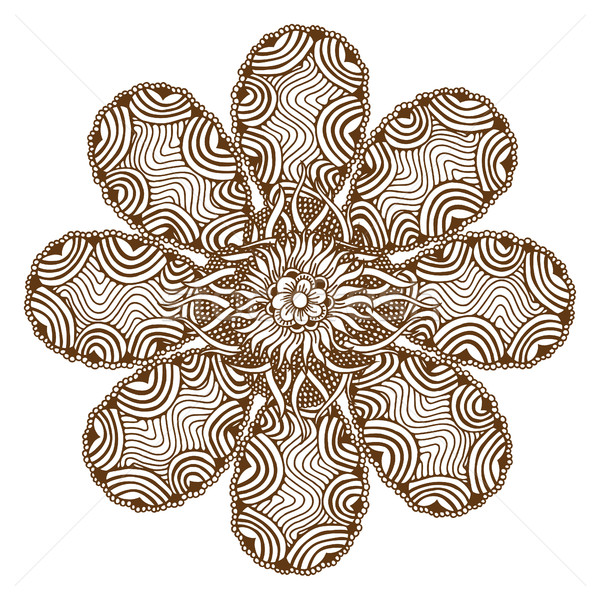 Henna Tattoo Mandala Stock photo © frescomovie