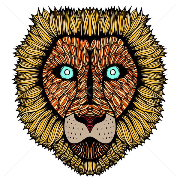 Tiger head zentangle Stock photo © frescomovie
