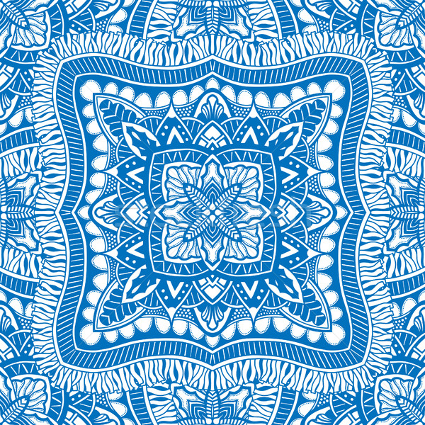 Vector naadloos Blauw patroon mooie afbeelding Stockfoto © frescomovie