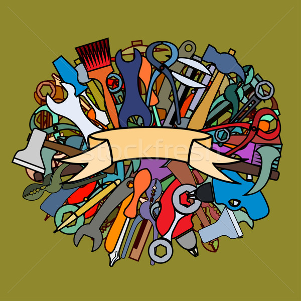Set of working tools Stock photo © frescomovie
