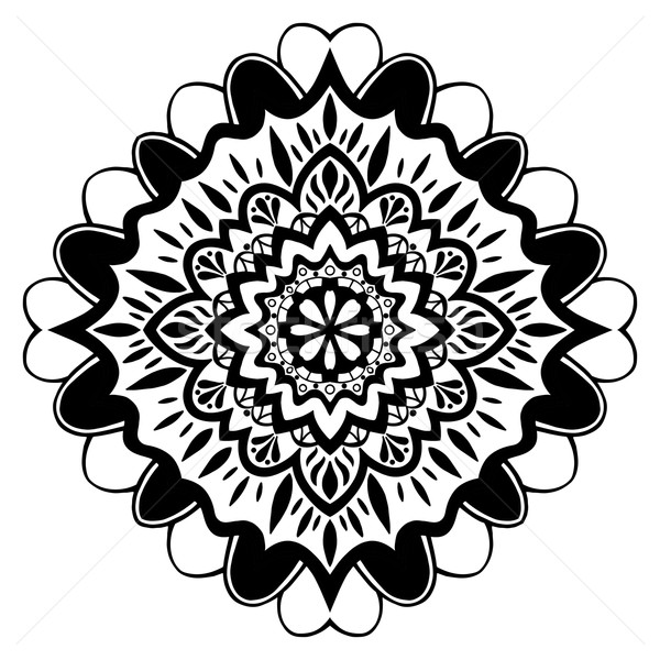 Mandala süs model bağbozumu dekoratif elemanları Stok fotoğraf © frescomovie