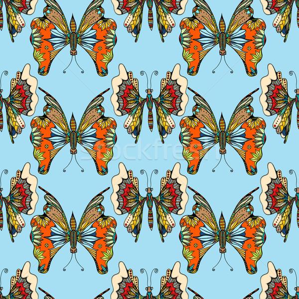 Zentangle stylized Butterfly Stock photo © frescomovie