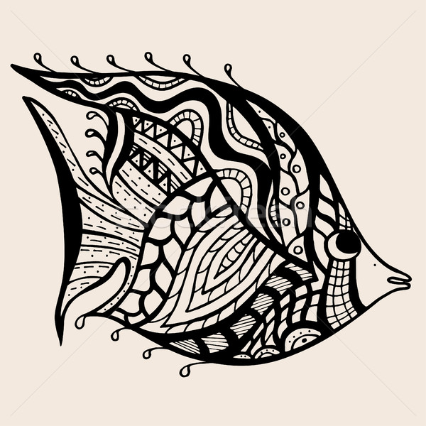 ornamental graphic fish Stock photo © frescomovie