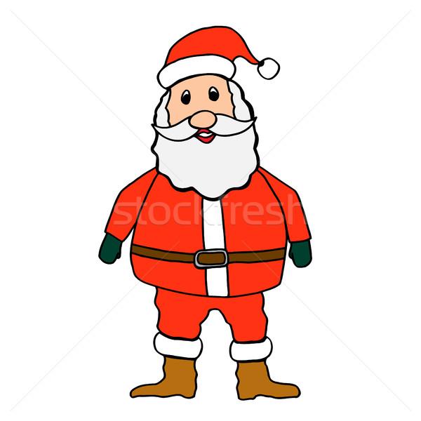 Santa claus on white background Stock photo © frescomovie
