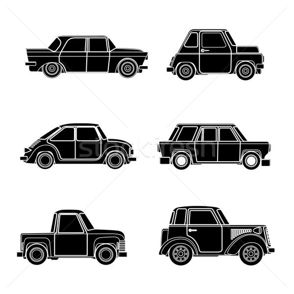 Vector vintage car silhouette.  Stock photo © frescomovie